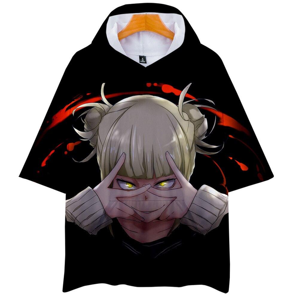 Himiko Toga, camiseta con capucha de estilo japonés, camiseta para hombre y mujer, camiseta de My Hero para chica, Boku suelto de verano, No Hero Academia