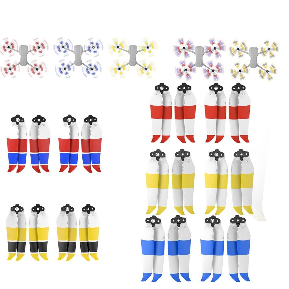 Hélices de Baixo Nível de Ruído Acessórios com Design de Liberação Tip para Dji Pares Golden Sliver Mavic ar Drone Rápida 7238f 2 – 4