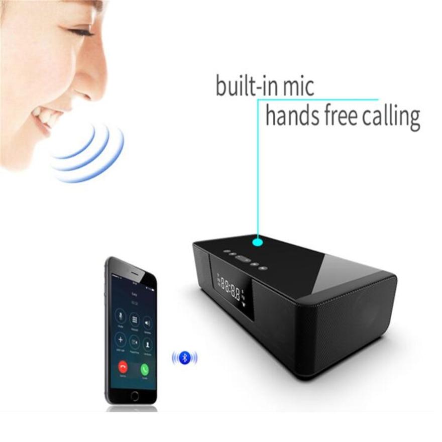 TV Soundbar Radio Fm Alarm Clock Hifi Speaker Home Theater Bluetooth  Optical Led Display Remote Control Wireless Charger Music enlarge