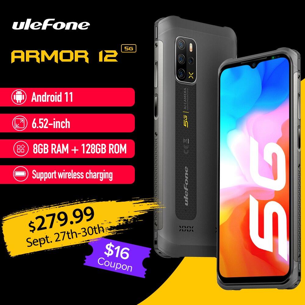 Ulefone Armor 12 5G جوّال المهامّ الوعرة أندرويد 11 8GB + 128GB الإصدار العالمي 6.52