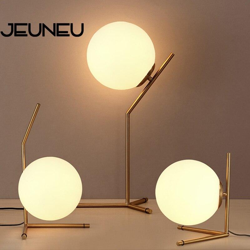 Lámpara de cristal para mesa de arte nórdico moderno, lámpara LED de hierro para escritorio E27 con 3 estilos para librería, salón, dormitorio, estudio, restaurante, cafetería