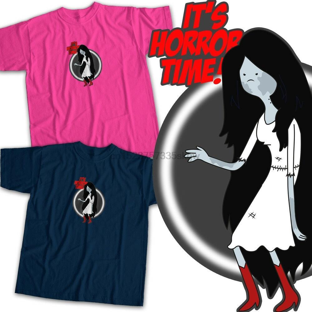 Tiempo de aventura Marceline Samara el anillo película de terror camiseta Unisex de dibujos animados