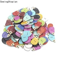 200pcs animal sewing wooden buttons hedgehog 2 holes diy craft scrapbooking colorful christmas gift sewing accessories
