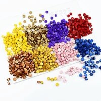 100pcs sealing wax beans stamp wax beads envelope seal labels accessories vintage wedding decor supplies stamp making tools