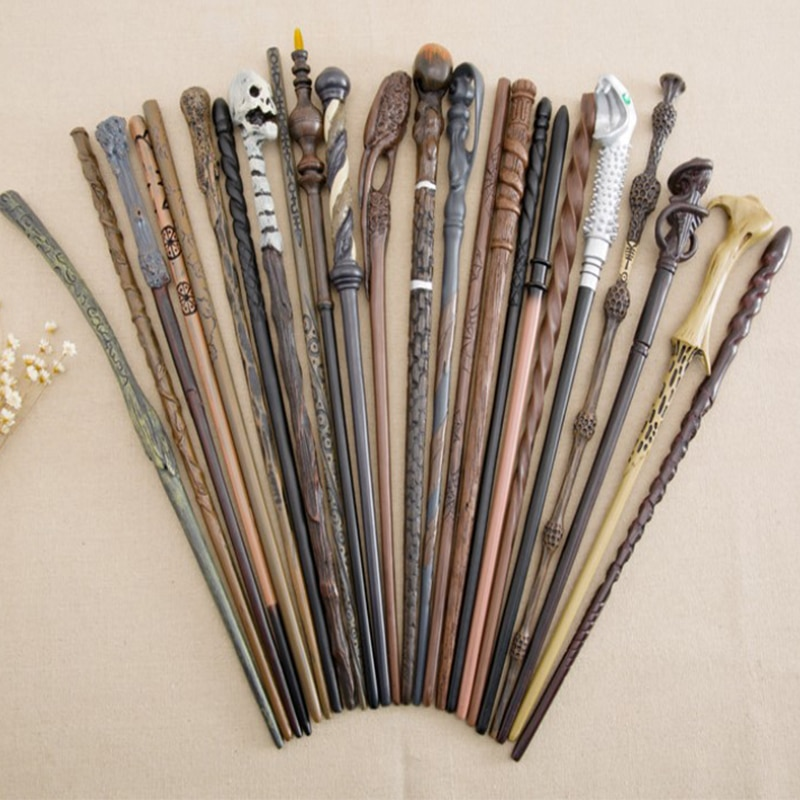 New 27 Kinds of Metal Core Dumbledore Magic Wands Voldmort Hermione Snape Magical Wand Cosplay Sticks Harried Without Box