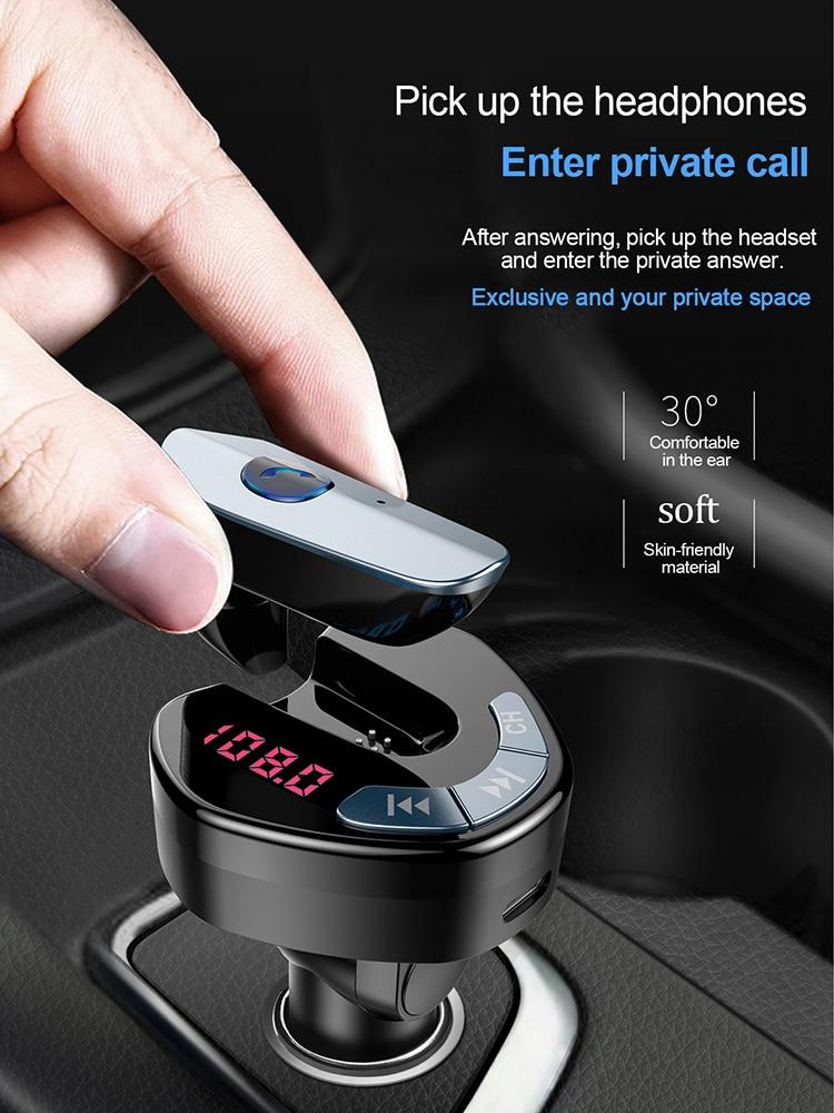 Автомобильный MP3-плеер, Bluetooth V4.1, FM-модулятор, аудиоплеер, беспроводная гарнитура, модулятор громкой связи, музыкальный плеер, зарядное устро...