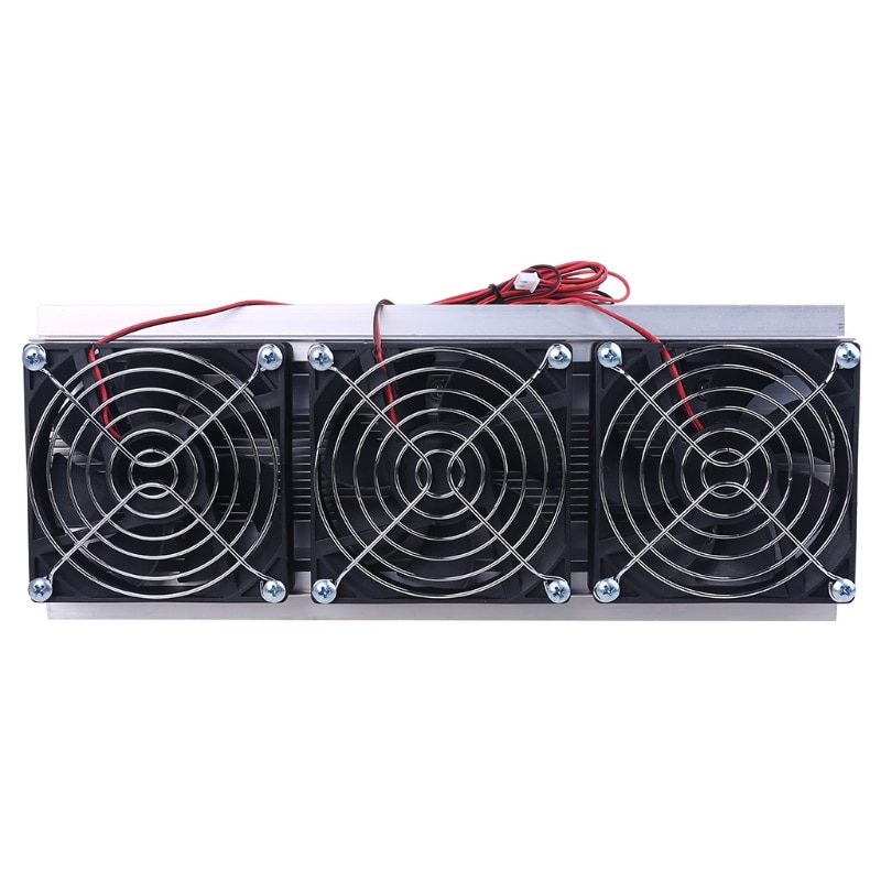 Semicondutor Eletrônico Refrigeração Cooler Triplo Ventilador Termoelétrico Módulo Kit Faça Você Mesmo Peltier Tec