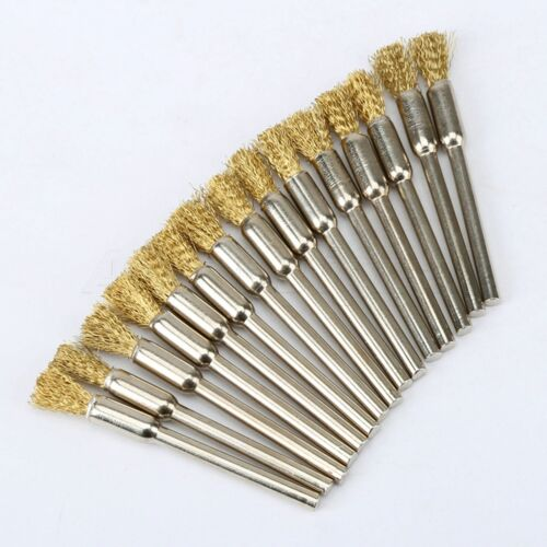 Para taladro eléctrico 30 Uds 5mm bobina giratoria de latón línea lápiz de ajuste cepillo