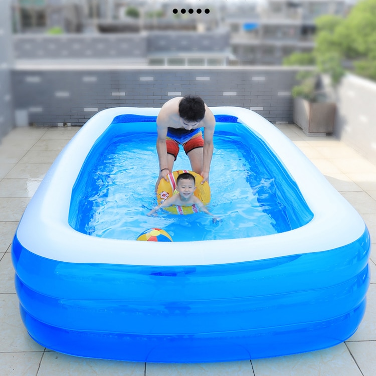 Kids Inflatable Swimming Pool Floating Ball Game Thicken Swimming Pool Water Park Piscine Gonflable Sports Entertainment DI50YC