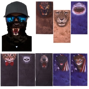 3D Animal Neck Gaiter Warmer Windproof Face Mask Mouth Respirator Wind Screen Neck Warmer Cover