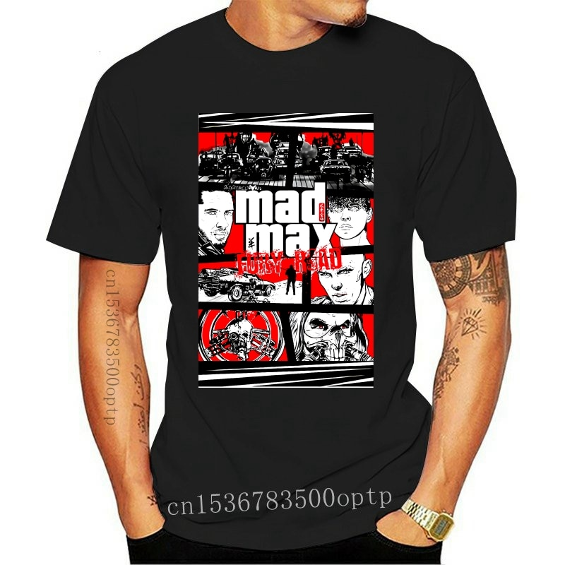 New simple fashion Mashup Gta Mad Max Fury 2021 Fashion Men'S T-Shirts Short Sleeve Cotton T Shirts Man Clothing