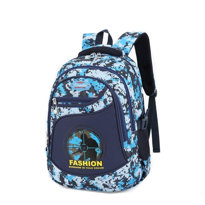 Детские школьные сумки, камуфляжный рюкзак для мальчиков, рюкзак для начальной школы, ортопедический Детский водонепроницаемый рюкзак mochila...