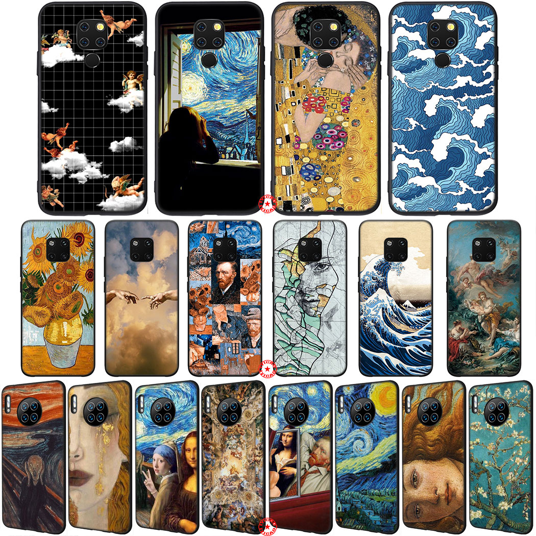Funda de teléfono de silicona blanda Y27 famosa pintura David Van Gogh Art para Huawei Mate 30 20 10 Lite Pro P10 Nova 2 Lite 2i