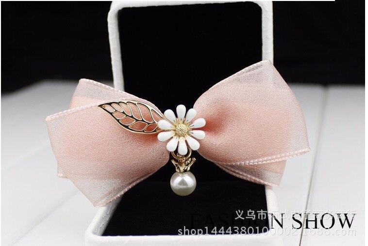 Korea Korean Fairy Hair Accessories Bow Headdress Jewelry Ribbon Bridesmaid Head Flower Duckbill Clip Hair Clip Spring Clip
