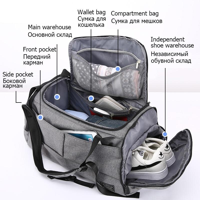 Gym Bag Multifunction Men Sports Shoulder Bags Woman Yoga Fitness Laptop Backpacks Hand Travel  With Shoes Pocket