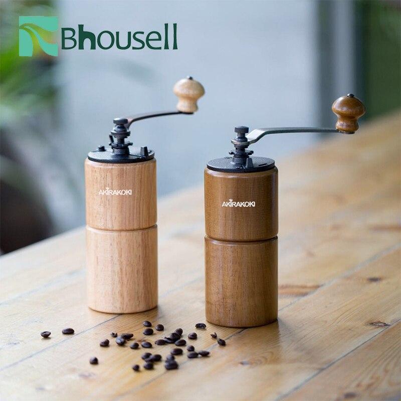كرنك اليد طاحونة القهوة الراتنج الخشب الحديد الزهر ماكينة تجليخ أسطوانية المحمولة مسحوق القهوة اكسسوارات المنزل المعيشة