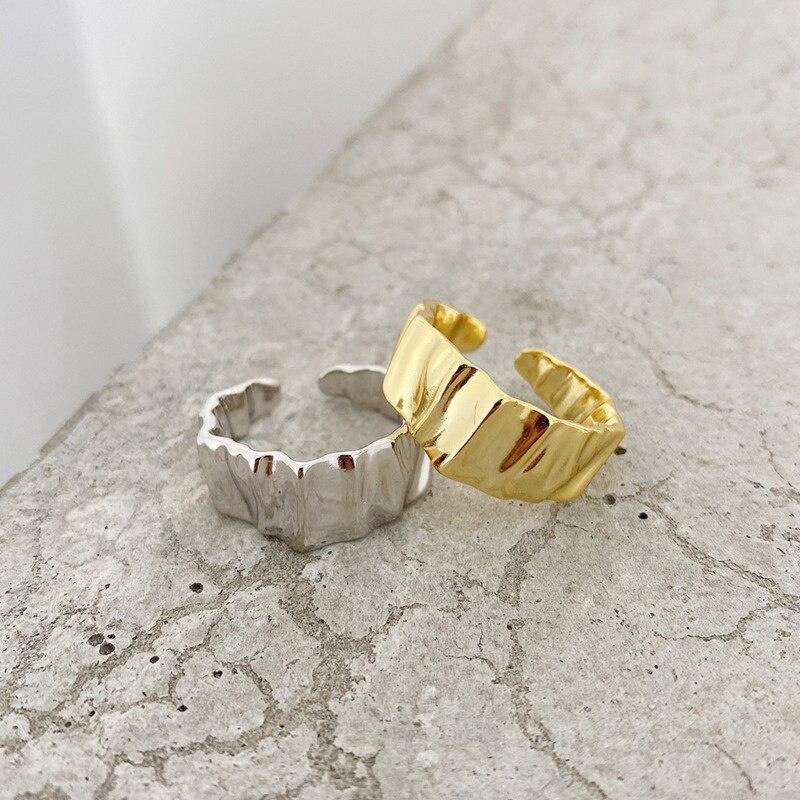 925-пробы-Серебряное-корейское-кольцо-подарок-для-женщин-асимметричный-дизайн-панк-аксессуары-изменяемый-Размер-2021-Модные-Изящные-ювелирны