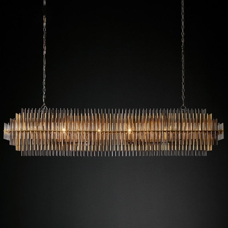 Post-modern light luxury led chandelier lighting Nordic cafe bar crystal hanging lamp luxury living room dining room chandelier