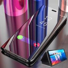 New Smart Mirror Flip phone Case For Huawei Honor P40 V30 Nova 5 Z 6 SE Y7P 7i Play 3 Pro Lite E Protective Back Cover Case