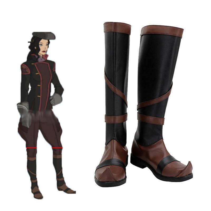 Аниме Аватар Последний аirbender косплей сапоги Хэллоуин персонажи обувь мужчины и женщины взрослый стиль