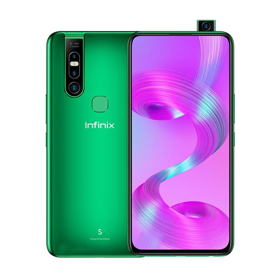 "Infinix S5 Pro sudeste versión X660C 4G LTE teléfono móvil 6,53 ""6GB 128GB ROM Octa Core Android 10,0 huella dactilar teléfono inteligente"