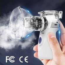 Máquina nebulizadora portátil, atomizador médico, inhalador, Humidificador silencioso, portátil