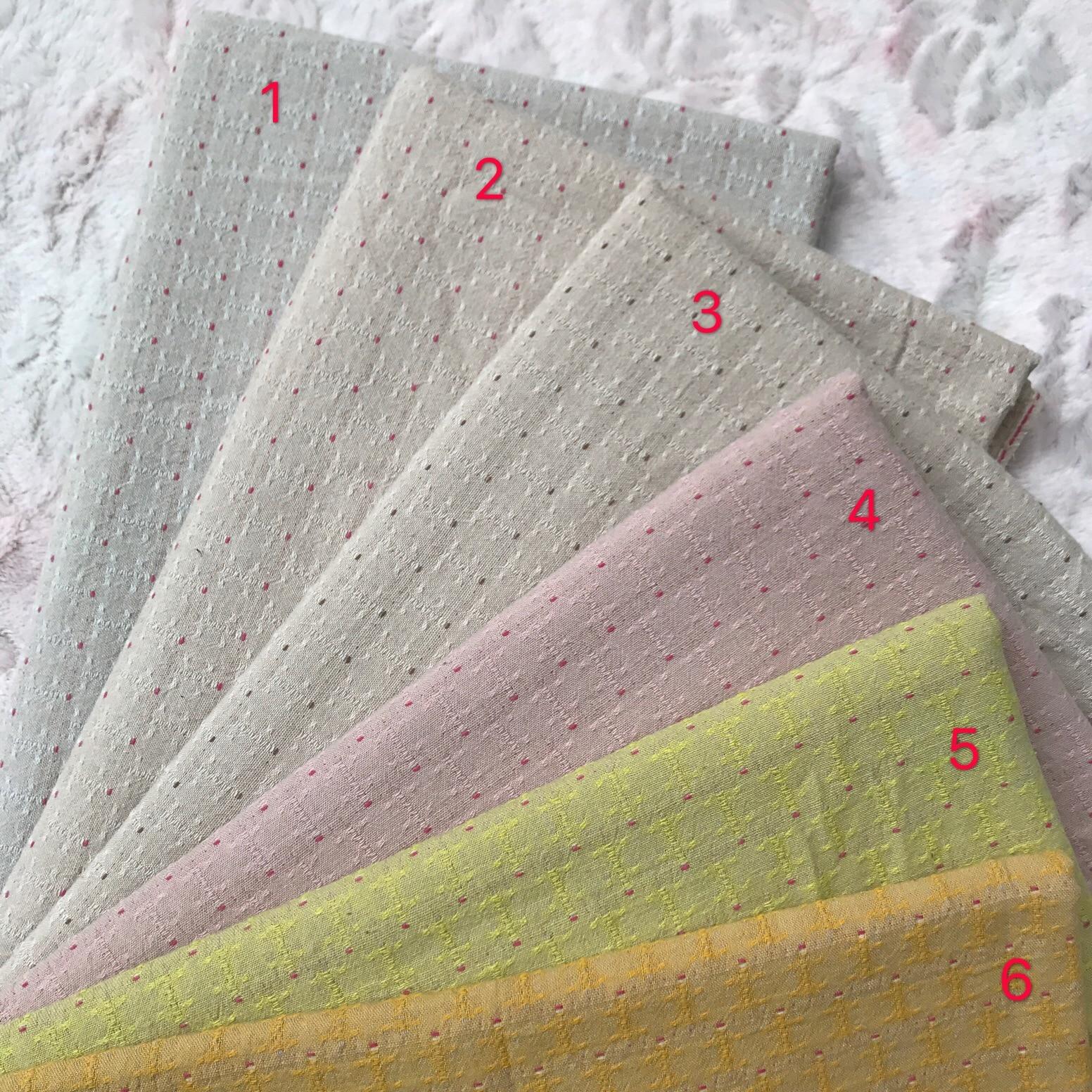 50x75cm DIY Japón tela pequeño grupo de tela hilado-teñido tela para columpio hecho a mano Patchwork acolchado rejilla raya punto