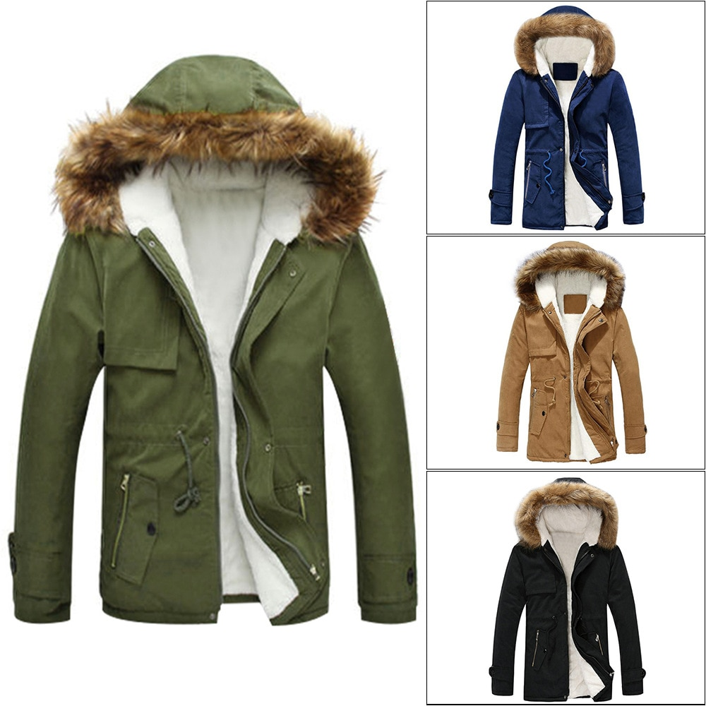 Men Parkas New Style for Autumn and Winter Winter Coat Men Cotton-Padded Clothes Fashion Long Men Wi