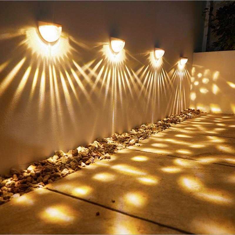 Светодиодный уличный светильник на солнечной батарее, декоративное освещение для двора, лестницы, улицы, автоматический прожектор с питани...