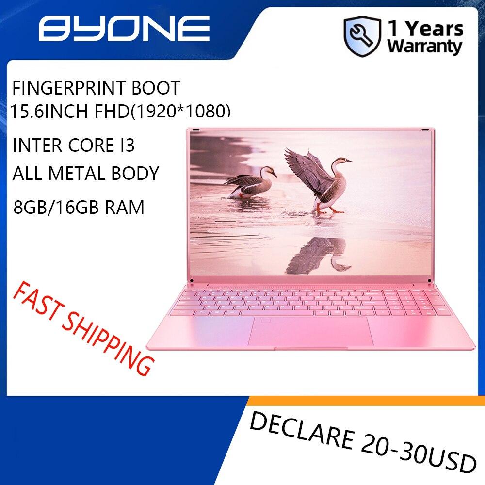 Get BYONE 15.6 Inch Gaming Laptop Fingerprint Unloc Intel Core i3-4005U FHD(1920*1080) 8GB RAM 128G/256G/512G SSD Laptop Notebook