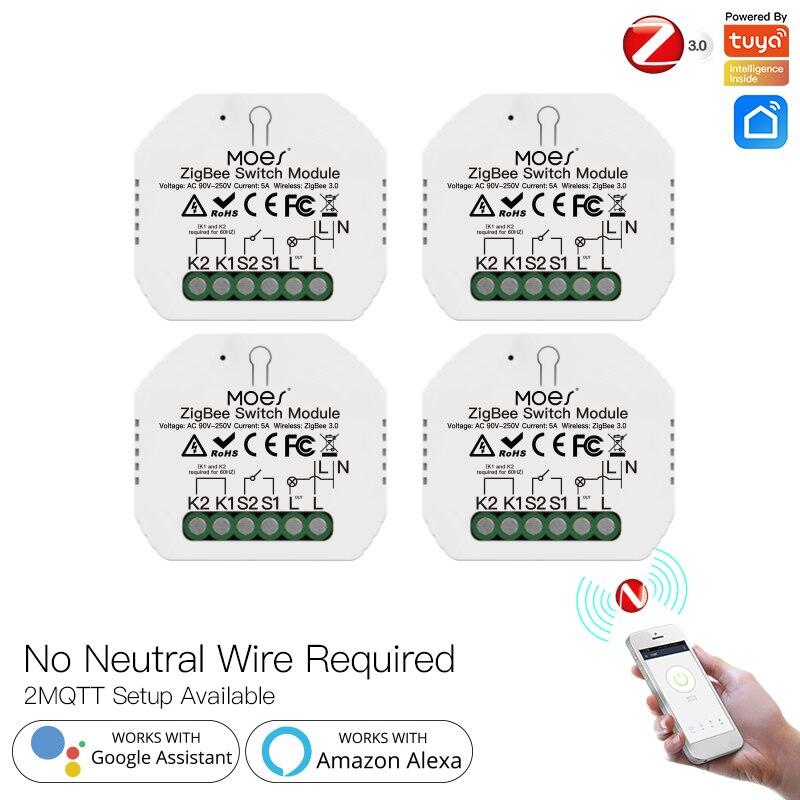 وحدة مفتاح الإضاءة الذكية 5A تويا زيجبي لا يوجد سلك محايد تطبيق ذكي لحياة النار واحد يعمل مع أليكسا جوجل هوم 2021