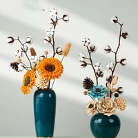 sunflower cotton real plants artificial natural dried flower ramadan room set decorations for home aesthetic bedroom luxe decor