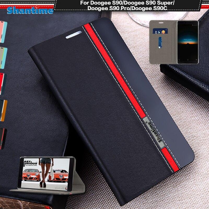 Funda de cuero Pu tipo cartera para teléfono Doogee S90 funda de libro con tapa para Doogee S90 Super S90 Pro S90C funda blanda de silicona