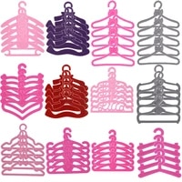 20 pcslot bowknotlove mini hangers for barbies doll clothes dressfashion barbies accessoriesfor barbiees ken doll furniture