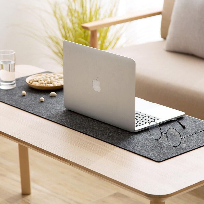 Large XXL Office Home Computer Desk Mat Table Keyboard Mouse Pad Wool Felt Laptop Cushion Desk Non-slip Mat Gamer Mousepad Mat