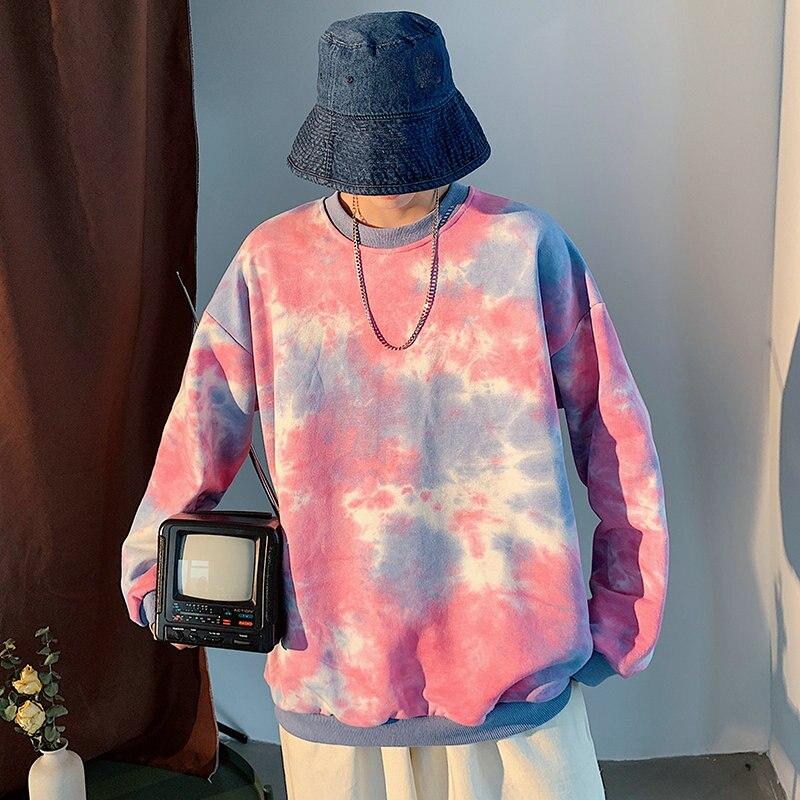 Nueva Sudadera con capucha de estilo japonés para hombres de algodón 2020 otoño sudaderas para hombres amantes sudaderas coreanas ropa Casual rosa