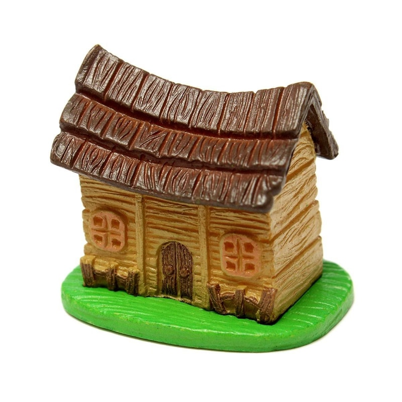 Casa de muñecas en miniatura musgo del paisaje Mini casa DIY planta de jardín en maceta ornamento