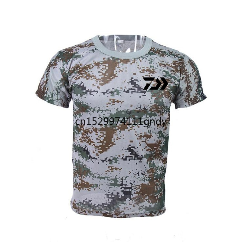 20204 Color Outdoors Fishing Clothes Camouflage Short Sleeve Quick-Drying Breathable Anti-UV Sun Protection Wicking Daiwa Shirt