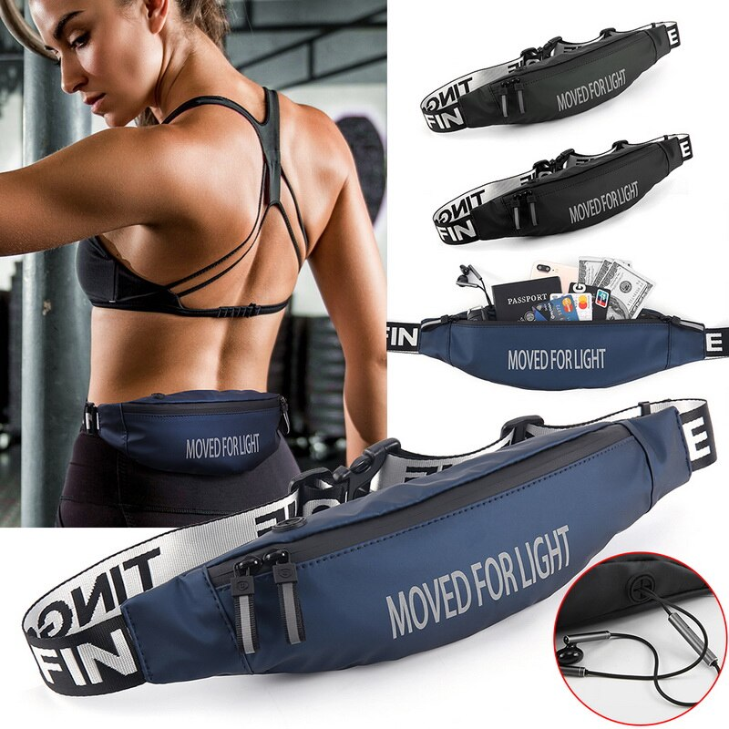 Riñonera para correr Unisex, para exteriores, para ciclismo deportivo, color negro, resistente al agua, para teléfono móvil
