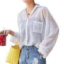 Femme T-shirt Women's White Vegan Womens Casual Lapel Neck T-shirt Ladies Long Sleeve Top Buckle Oversized T Shirt Basic Top