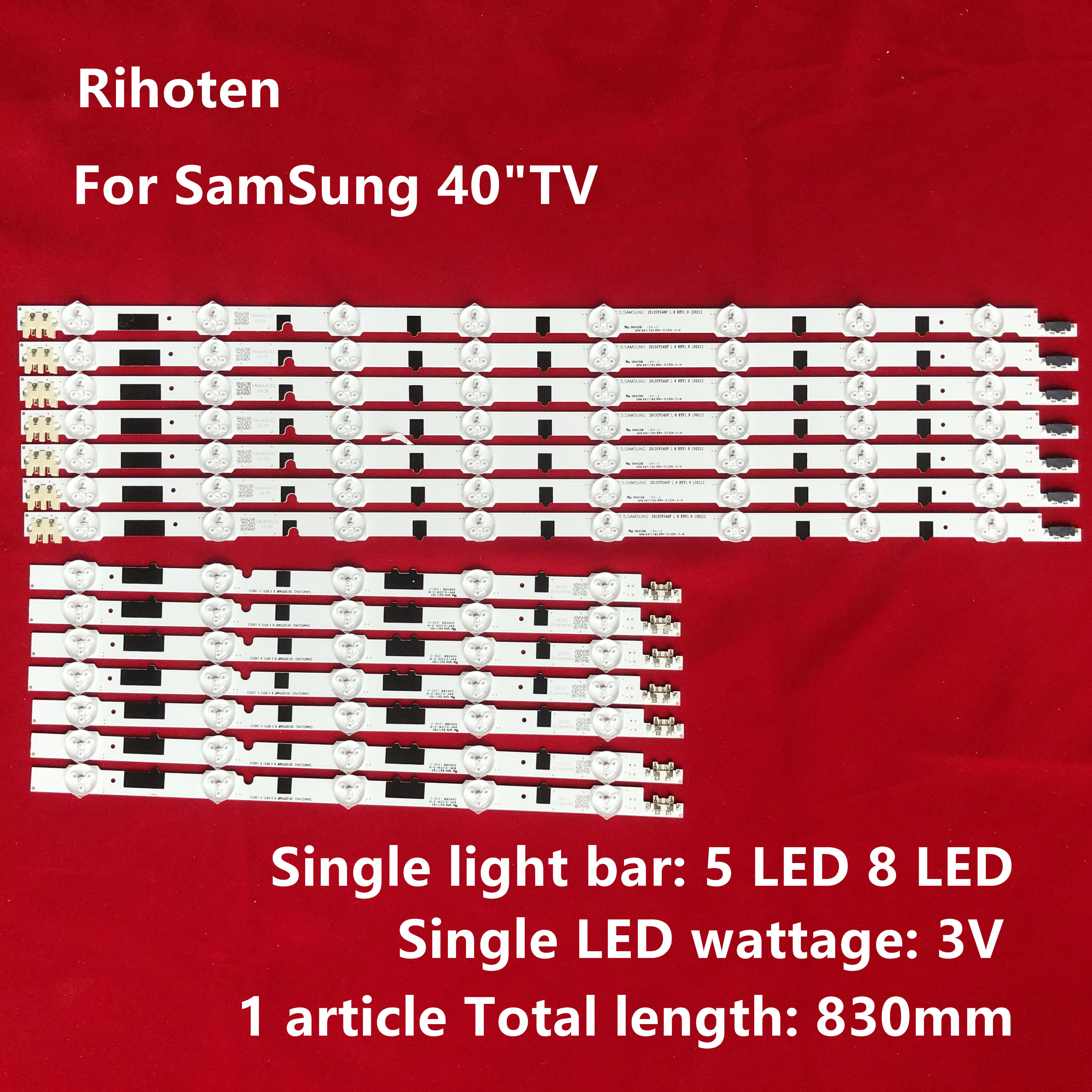 (Новый комплект) 14 шт. светодиодных лент для Samsung UE40F6755 UE40F6770 UE40F6780 UN40F6100 UN40F6300 UN40F5200 UN40F5500 UN40F6800 UE40F6330