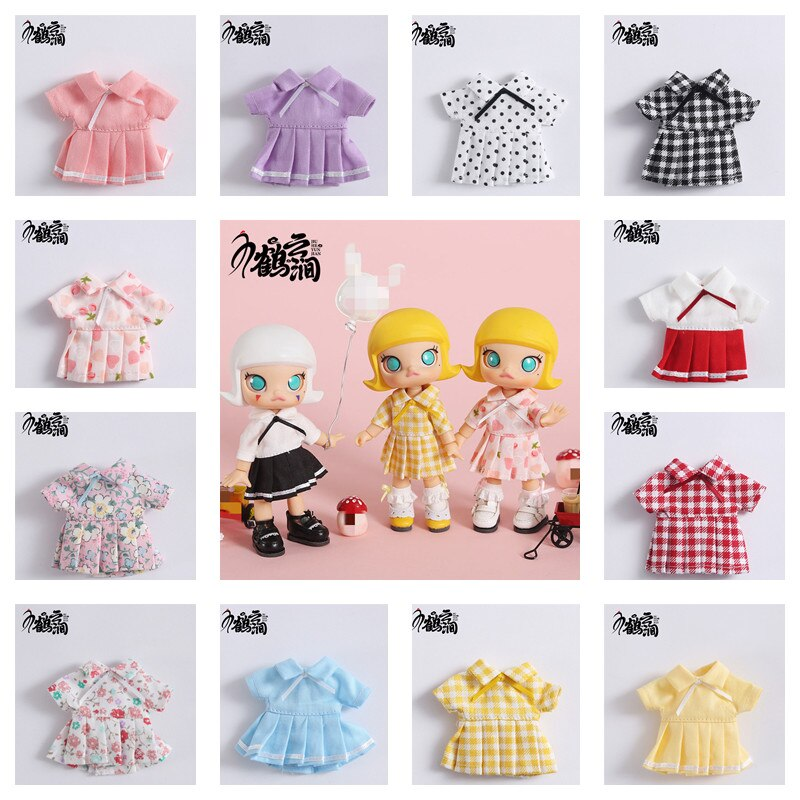 Ob11 baby dress, dress, skirt 12 points BJD doll dress beauty knot pig Molly little red cap round is