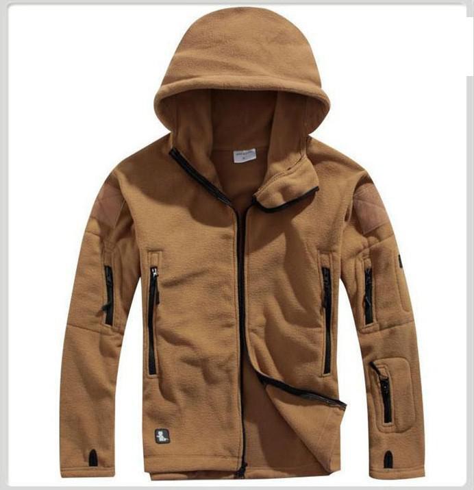 Мужская Утепленная флисовая куртка Tad Shark Skin, утепленная куртка с капюшоном, теплое пальто для улицы, Осень-зима 2019 фото
