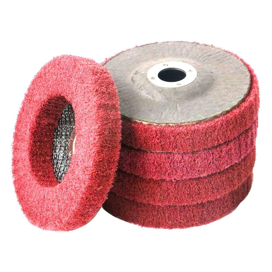 5 Pcs 100MM Stainless Steel Flywheel Grinding Polishing Wheel Abrasives Grinding Polishing Strip Disc Fiber Impeller Sand Polish
