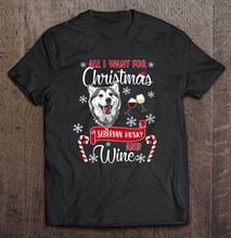 Men Funny T Shirt Fashion tshirt All I Want For Christmas Siberian Husky And Wine  Women t-shirt