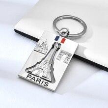 Wysokiej jakości stopu cynku Mental brelok obrotowy wieża eiffla w paryżu breloczek romantyczny pamiątka list fajne breloki dla mężczyzn