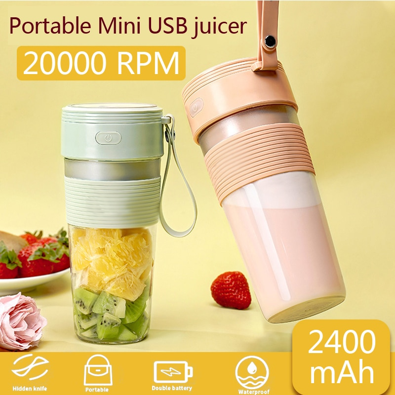 Portable Electric mixer juicer USB cup blender Electric USB household juicer orange juicer Mini Fast