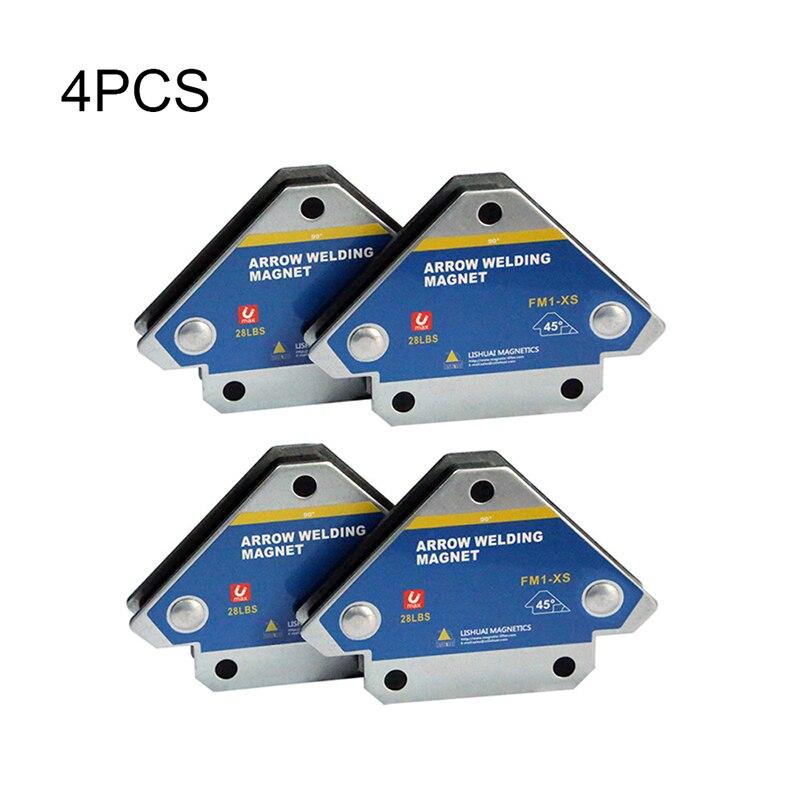 4 قطعة حاملات لحام مغناطيسية متعددة الزوايا لحام السهم المغناطيس لحام المثبت الموضع الفريت عقد أدوات تحديد المواقع المساعدة