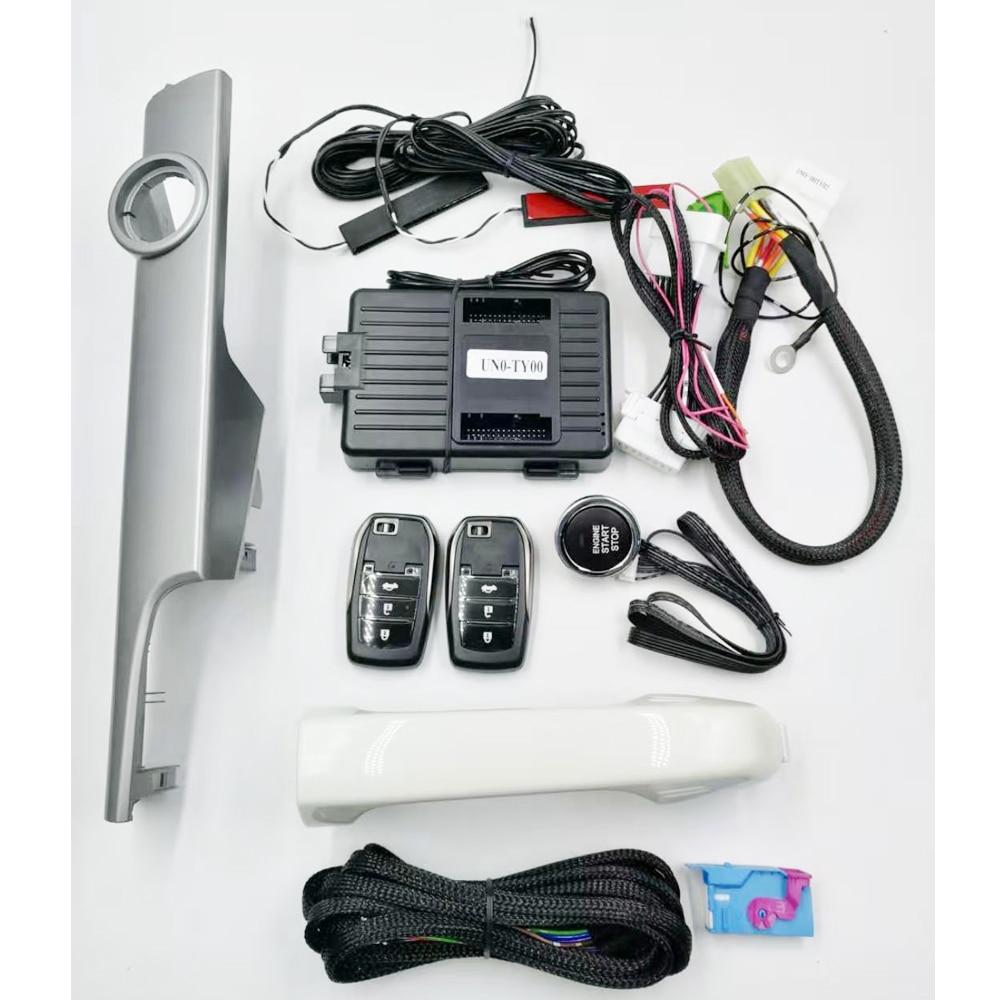 لسيارة تويوتا برادو موديل 2012 إلى 2017 مع إضافة زر ضغط لبدء إيقاف نظام التحكم عن بعد ونظام الذهاب بدون مفتاح مع مقبض لوحة
