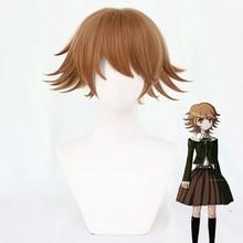 Chihiro Fujisaki Cosplay perruque jeu Danganronpa Fujisaki Chihiro marron court synthétique résistant à la chaleur femmes perruques de cheveux